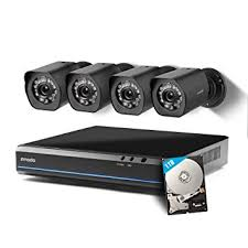 Zmodo 4 Channel HDMI <b>NVR</b> 4x720p HD Security <b>Camera Smart</b>