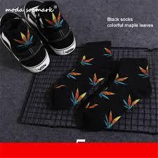 <b>Moda Socmark</b> Men's Socks New Maple Leaf Long Socks Cotton ...