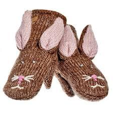 <b>Варежки Knitwits</b> Кролик, цвет: светло-коричневый. А2199 ...
