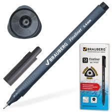 """20 ₽ — <b>Ручка капиллярная BRAUBERG</b>""""<b>Carbon</b>""""супертонкий ..."""