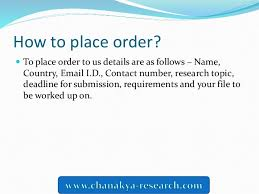How to place order  SlideShare