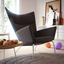 White Chairs For Living Room Furniture Cool Black Laminated Leather Modern Chair Style Living