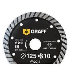 Алмазный <b>диск</b> турбо по бетону (125х22.2 мм) <b>GRAFF GDD 17</b> ...