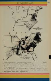 best ideas about slavery in the us african united states slave population maps 1790 and 1860 each dot represents 200 slaves