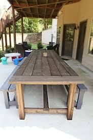 i absolutely l o v e this table want one built for our dream home when we move buy diy patio furniture