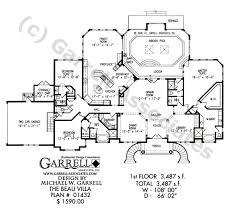 Beau Villa House Plan   Active Adult House Plansbeau villa house plan   st floor plan