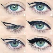 winged eyeliner is a whole lot easier with this trick to get the perfect flick in step 1 hold your eyeliner diagonally on your face from the corner of