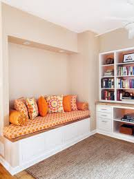 stylish bench seating alcove office