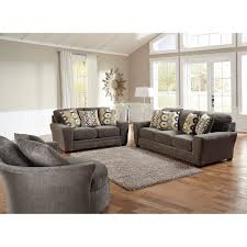couch bedroom sofa: sax living room sofa amp loveseat grey  living room furniture conns