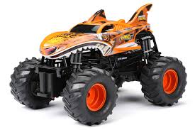 New Bright RC Monster Trucks <b>1:14</b> Radio Control Hot Wheels Tiger ...