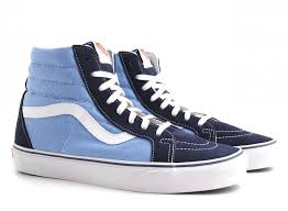 Image result for vans sk8hi blue
