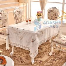 rectangular dining table cover cloth knitted vintage: adasmile brand  new inch  linen lace table cloth rectangular embroidered wedding