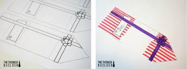 the thinker builder compliment presents a holiday gift for fold the template length wise out creasing it and snip along the dotted line this makes a slit that they will use to keep the present closed