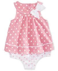 <b>First</b> Impressions <b>Baby Girls</b> Dot-Print <b>Cotton</b> Skirted Romper ...