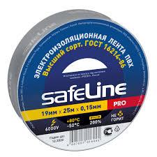 <b>Изолента Safeline 19/25</b>, <b>серо</b>-<b>стальная</b>