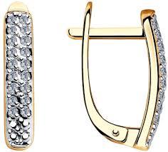 Золотые серьги <b>SOKOLOV</b> 1021306_s с бриллиантами — купить ...