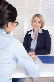 interview at office between two business women stock photo interview at office between two business women stock photo 25889521
