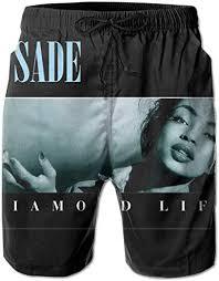 WangSiwe Sade <b>Diamond Life</b> 3D <b>Printed</b> Beach Trunks Board ...