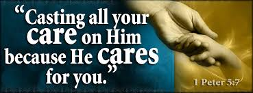 Image result for cast your cares on him pics