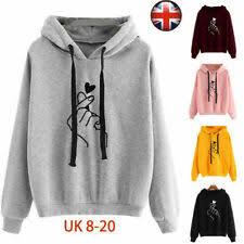 Grey <b>Hooded Floral Hoodies</b> & <b>Sweatshirts</b> for <b>Women</b> for sale | eBay