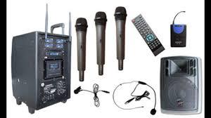 sound system wireless: portable amplifier wireless sound system auderpro