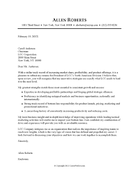 cover letter example executive or ceo careerperfectcom cover letters samples