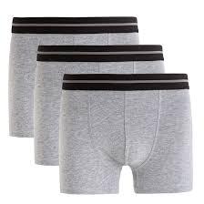 <b>Комплект из 3 трусов-боксеров</b> серый + серый + серый La ...