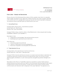 Cover Letter For Chartered Accountant Resume Resume For Your Job