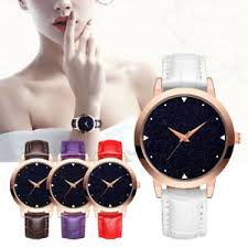 Women's Lady <b>Gypsophila</b> PU Leather Strap <b>Quartz Watch</b> Simple ...