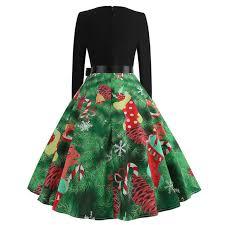 <b>Women</b> Dress Winter Christmas Dresses <b>Women O neck</b> Vintage ...