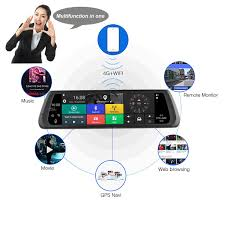 """10"""" Touch Screen Bluetooth WiFi 4G Android <b>Car DVR</b> Camera ..."""