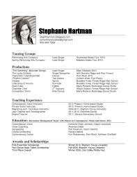 music resume examples