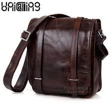 <b>UniCalling</b> Fashion Brand Vintage <b>Genuine Leather</b> Men ...