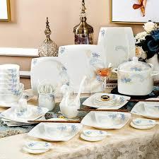 Gift tableware bowl set Jingdezhen <b>bone china</b> tableware bowl plate ...