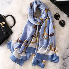 <b>REALSISHOW</b> Designer Silk Scarf Women Luxury Scarves Long ...