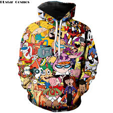 <b>PLstar Cosmos Fashion</b> men hoodies 90s Cartoon Gang Character ...