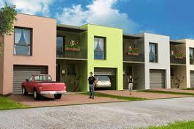 Row House Plans   Houseplans comSignature Modern Exterior   Front Elevation Plan       Houseplans com