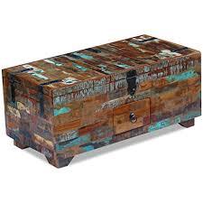 vidaXL vidaXL <b>Coffee Table</b> Desk Box Chest <b>Furniture Solid</b> ...