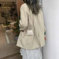 M MISM Ins <b>Fashion Pearl</b> Bags For Women <b>2019</b> Handmade ...
