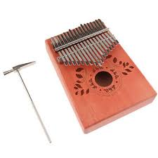 <b>17Keys Thumb Piano Kalimba</b> -Unique Leaves <b>Pattern</b> Mbira w ...