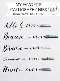 <b>HOW TO: Choose</b> the Right <b>Calligraphy</b> Nib — Crooked <b>Calligraphy</b>