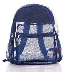 Bravo <b>Mesh</b> Backpack <b>Transparent</b> See Through <b>Large</b> Size 16 ...