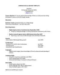 chronological resume template microsoft word templates best chronological resume template o5oei6wg