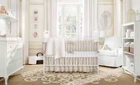 astonishing baby nursery room idea with white furniture and cute fur rug and floral pattern rug baby nursery decor furniture