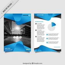 flyer vectors photos and psd files flyer template blue abstract forms