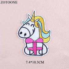 Online Shop <b>ZOTOONE</b> Embroidery <b>Unicorn</b> Patch <b>Cartoon Iron</b> On ...
