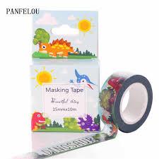 10M*15mm <b>dinosaur</b> world box stickers Washi Masking tape Quality ...