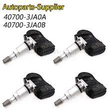 4pcs <b>NEW 433MHZ</b> Car <b>Tire Pressure</b> Sensor <b>TPMS</b> For Nissan ...