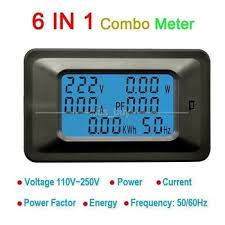 AC All in One Meter AC 110V 220V 100A Voltage Current Power ...