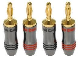 <b>Разъем Real Cable Banana</b> B7210 2C 4PCS - Чижик